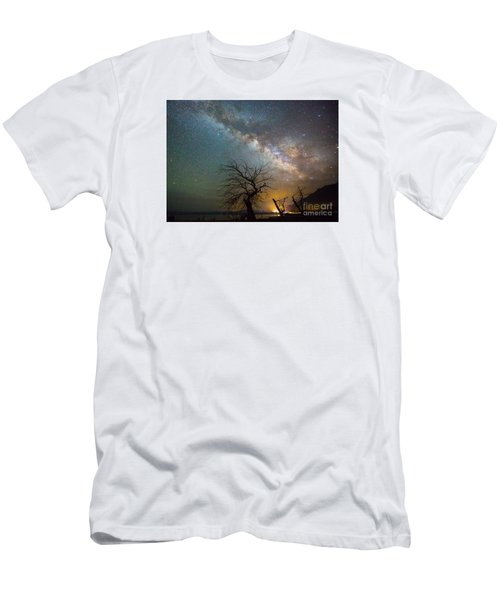 Starry Milky Way Men's T-Shirt (Athletic Fit)