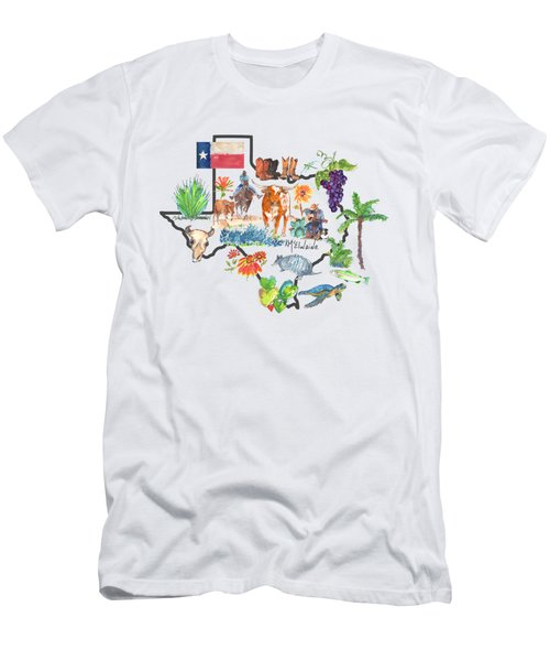 State Of Texas As I Know It Men's T-Shirt (Athletic Fit)