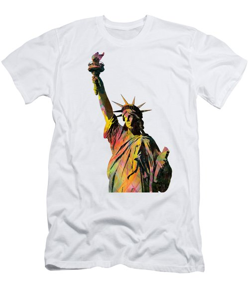 Statue Of Liberty Men's T-Shirt (Slim Fit) by Marlene Watson