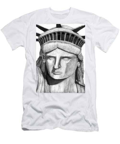 Statue Of Liberty Selfie Men's T-Shirt (Slim Fit) by Terry Cork