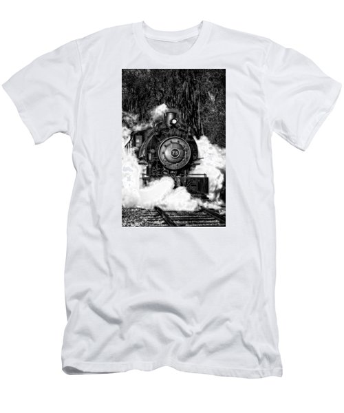 Steam Engine Jan 2016 In Hdr Men's T-Shirt (Slim Fit) by Michael White