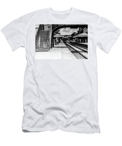 Steam Train In The Station Men's T-Shirt (Athletic Fit)