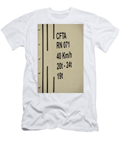 Men's T-Shirt (Athletic Fit) featuring the photograph Steam Train Series No 30 by Clare Bambers