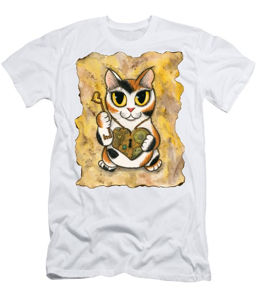 Steampunk Valentine Cat Men's T-Shirt (Athletic Fit)