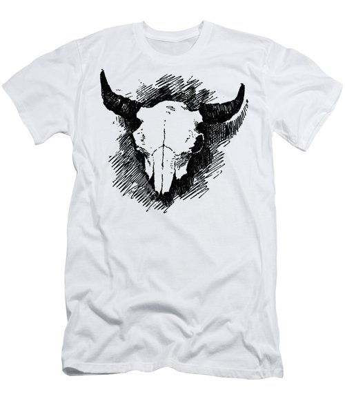 Steer Skull Tee Men's T-Shirt (Athletic Fit)