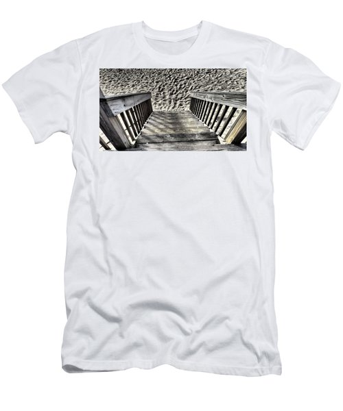 Steps To The Beach Men's T-Shirt (Athletic Fit)