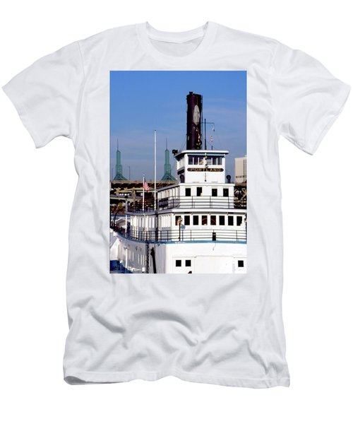 Men's T-Shirt (Athletic Fit) featuring the photograph Sternwheeler, Portland Or  by Frank DiMarco