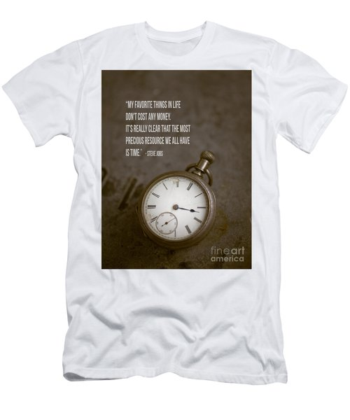 Steve Jobs Time Quote Men's T-Shirt (Athletic Fit)
