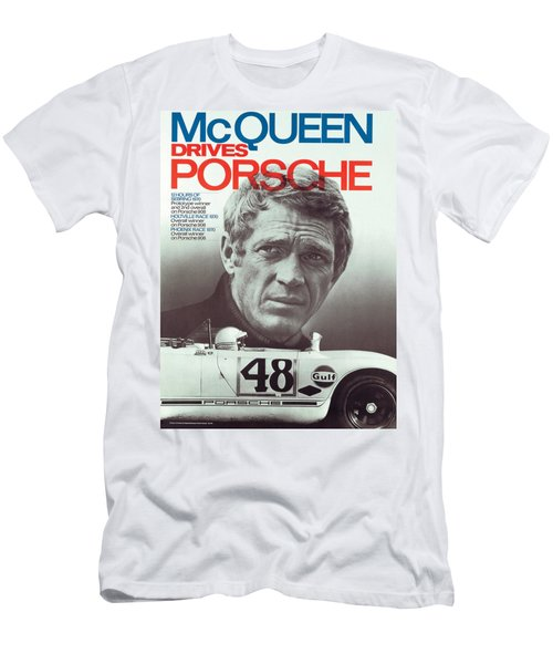 Steve Mcqueen Drives Porsche Men's T-Shirt (Athletic Fit)