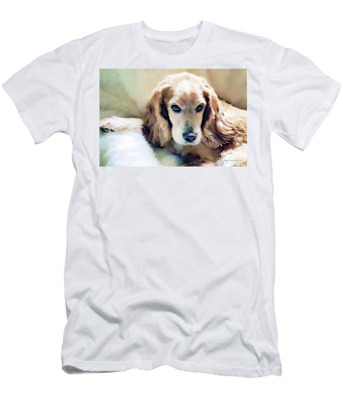 Men's T-Shirt (Slim Fit) featuring the photograph Stevey And His Fur by Polly Peacock