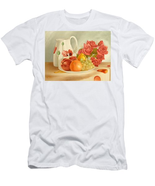 Men's T-Shirt (Athletic Fit) featuring the painting Still Life by Angeles M Pomata