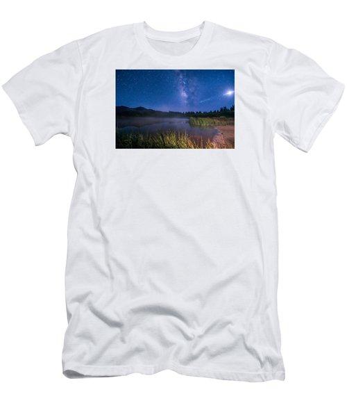Still Night At Upper Molas Lake Men's T-Shirt (Slim Fit) by Michael J Bauer