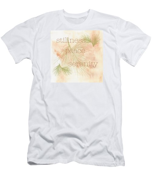 Men's T-Shirt (Slim Fit) featuring the painting Stillness  by Kandy Hurley