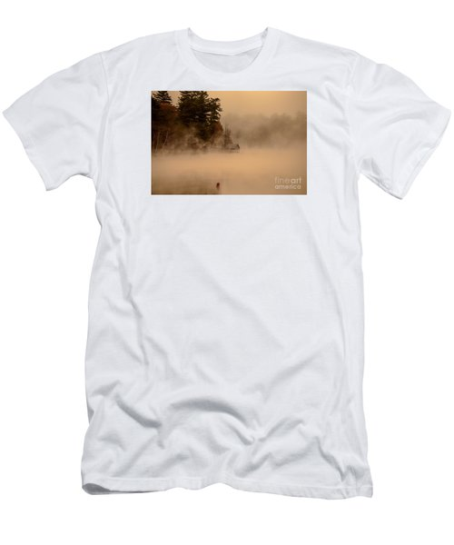 Stillness Of Autumn Men's T-Shirt (Slim Fit) by Sherman Perry
