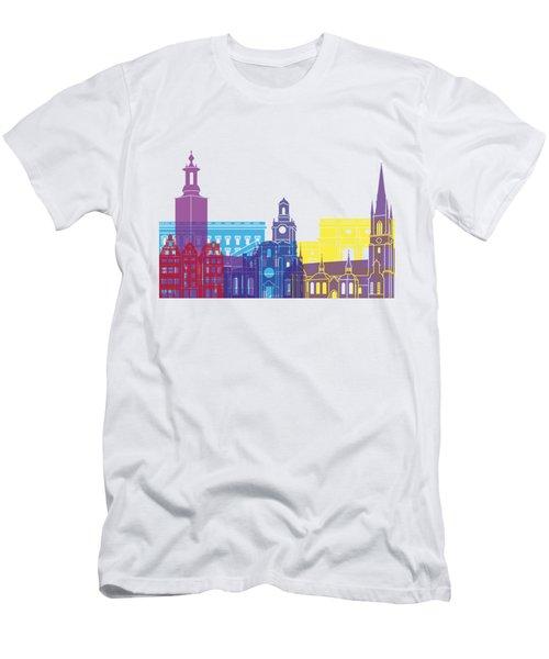 Stockholm Skyline Pop Men's T-Shirt (Athletic Fit)