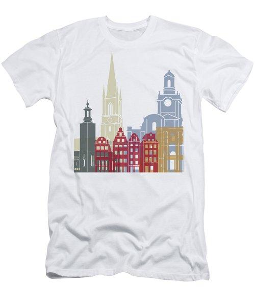 Stockholm Skyline Poster Men's T-Shirt (Athletic Fit)