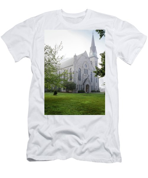 Stone Chapel In Fog Men's T-Shirt (Athletic Fit)