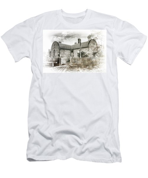 Men's T-Shirt (Slim Fit) featuring the photograph Stone Cottage by Wayne Sherriff