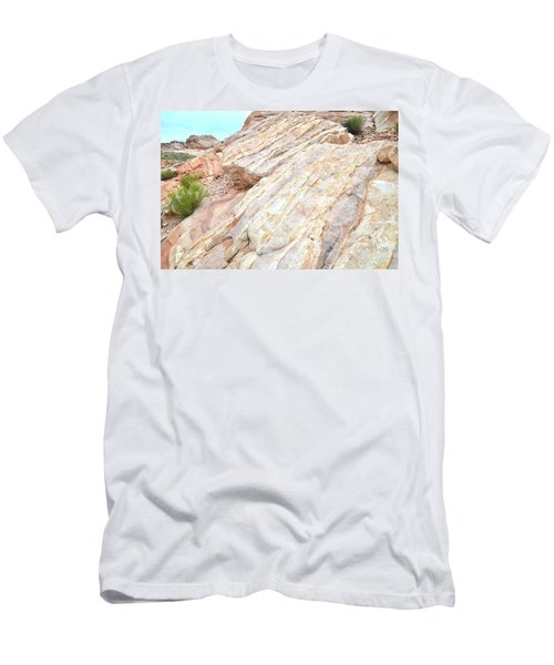 Men's T-Shirt (Slim Fit) featuring the photograph Stone Feet In Valley Of Fire by Ray Mathis