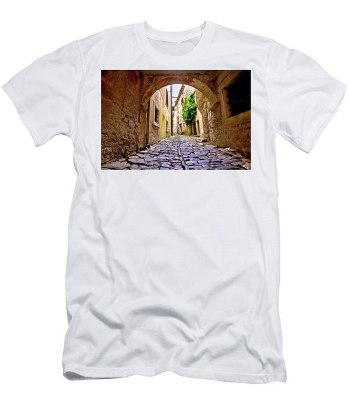 Stone Town Of Groznjan Old Street  Men's T-Shirt (Slim Fit) by Brch Photography