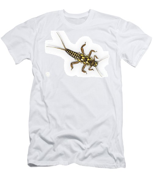Stonefly Larva Nymph Plecoptera Perla Marginata - Steinflue -  Men's T-Shirt (Athletic Fit)