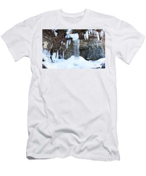 Men's T-Shirt (Slim Fit) featuring the photograph Stony Kill Falls In February #1 by Jeff Severson