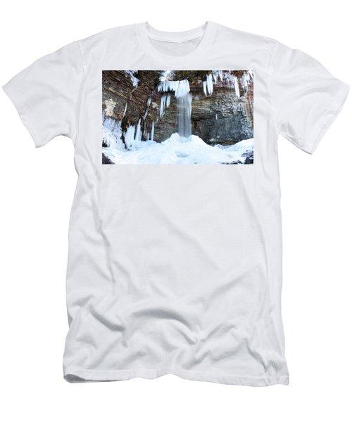 Stony Kill Falls In February #1 Men's T-Shirt (Slim Fit) by Jeff Severson