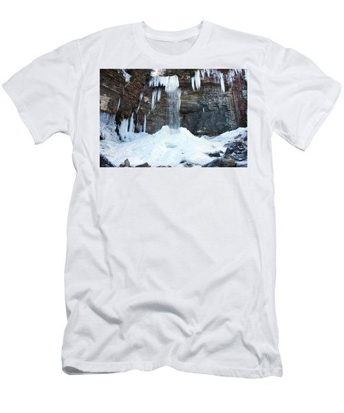 Men's T-Shirt (Slim Fit) featuring the photograph Stony Kill Falls In February #2 by Jeff Severson