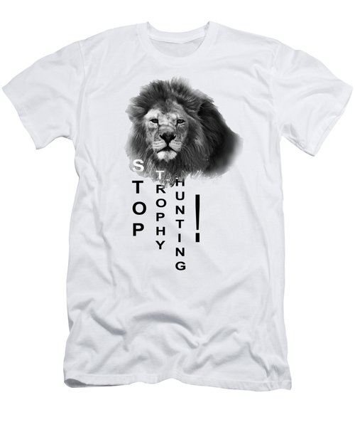 Stop Trophy Hunting 02 Men's T-Shirt (Slim Fit) by Jivko Nakev