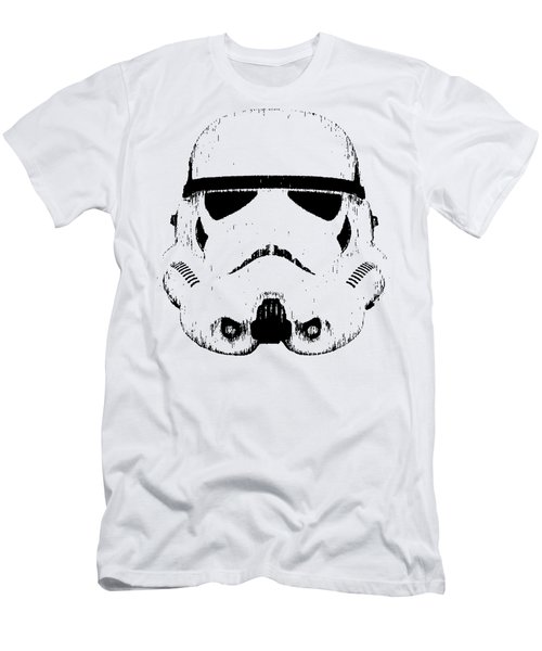 Stormtrooper Helmet Star Wars Tee Black Ink Men's T-Shirt (Athletic Fit)