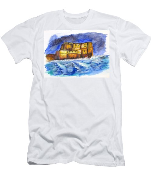 Stormy Castle Dell'ovo, Napoli Men's T-Shirt (Slim Fit) by Clyde J Kell
