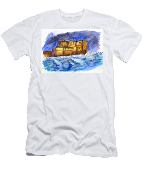 Stormy Castle Dell'ovo, Napoli Men's T-Shirt (Athletic Fit)