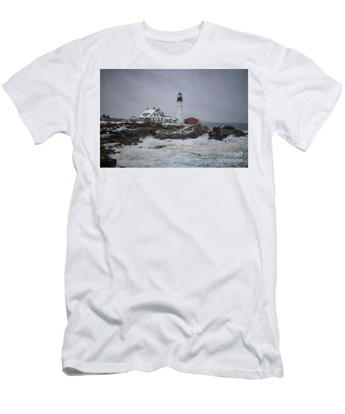 Stormy Portland Head Light Men's T-Shirt (Athletic Fit)