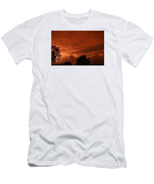 Stormy Sunset Men's T-Shirt (Slim Fit) by Nikki McInnes
