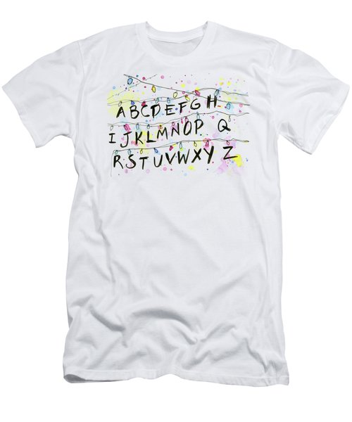 Stranger Things Alphabet Wall Christmas Lights Men's T-Shirt (Athletic Fit)