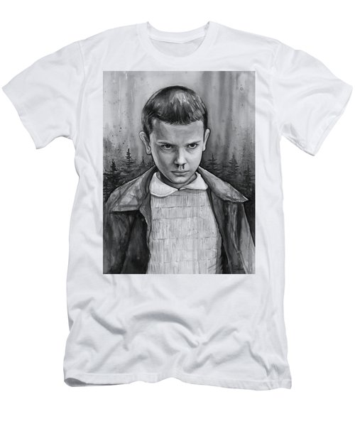 Stranger Things Fan Art Eleven Men's T-Shirt (Athletic Fit)