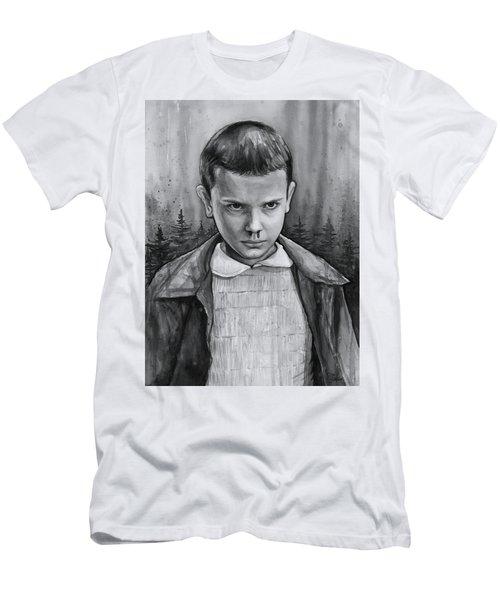 Stranger Things Fan Art Eleven Men's T-Shirt (Athletic Fit)