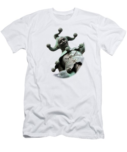Stratford's Jester Statue On Transparent Background Men's T-Shirt (Slim Fit) by Terri Waters