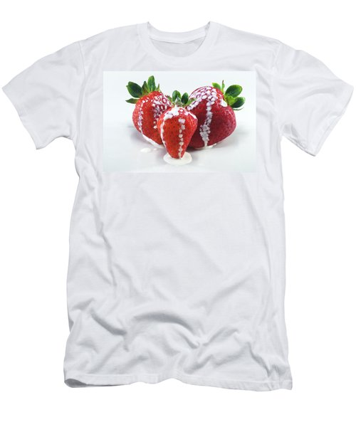 Strawberries And Cream Men's T-Shirt (Athletic Fit)