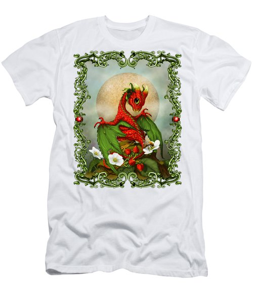 Strawberry Dragon T-shirt Men's T-Shirt (Slim Fit) by Stanley Morrison