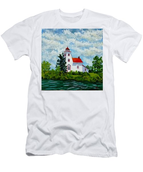 Strawberry Island Lighthouse, Manitoulin Island Men's T-Shirt (Athletic Fit)