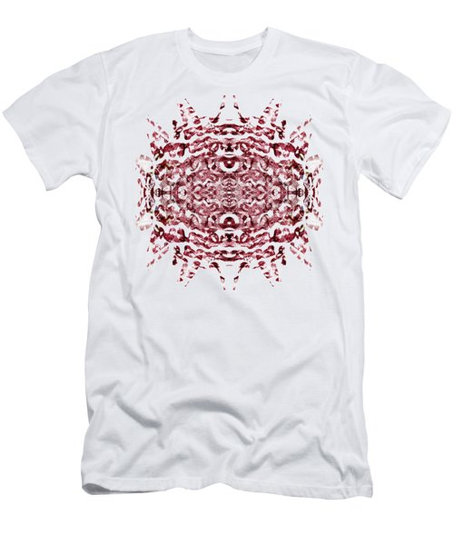 Men's T-Shirt (Slim Fit) featuring the painting Strawberry Red Abstract by Frank Tschakert