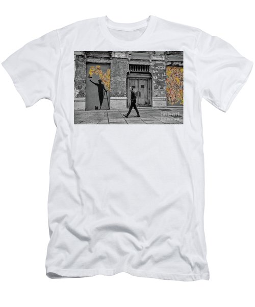 Street Art In Malaga Spain Men's T-Shirt (Slim Fit) by Henry Kowalski