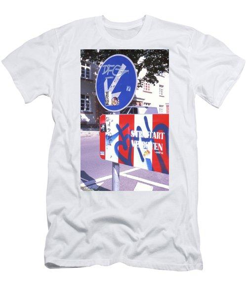 Street Art In Street Sign Men's T-Shirt (Athletic Fit)