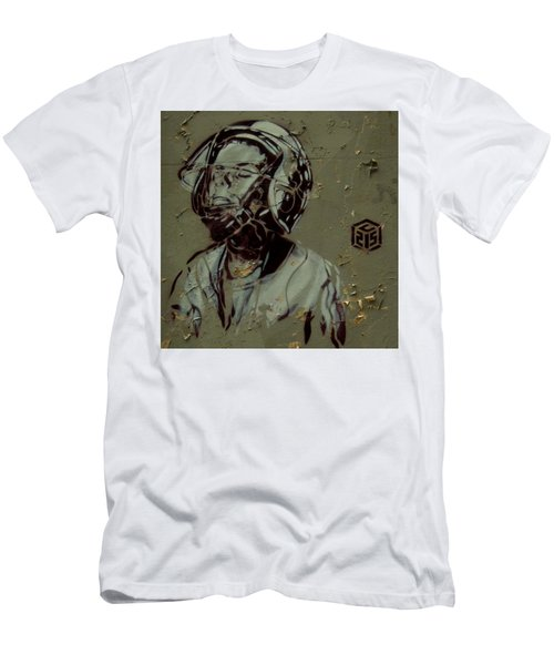 Men's T-Shirt (Slim Fit) featuring the painting Street Art by Sheila Mcdonald