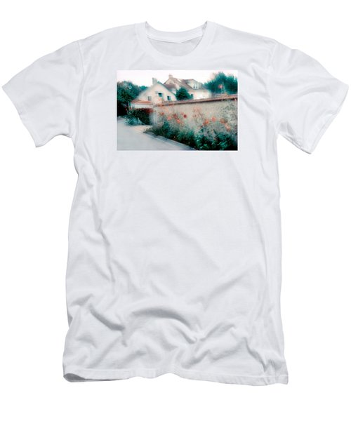 Street In Giverny, France Men's T-Shirt (Slim Fit) by Dubi Roman