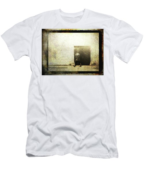 Street Photography - Closed Door Men's T-Shirt (Slim Fit) by Siegfried Ferlin