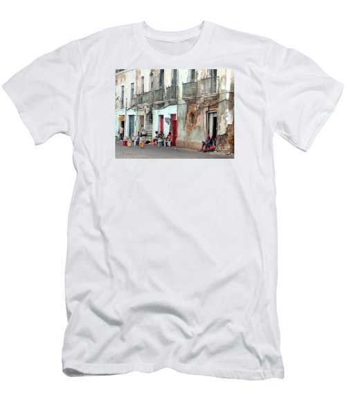 Street Scene Luanda, Angola Men's T-Shirt (Slim Fit) by John Potts