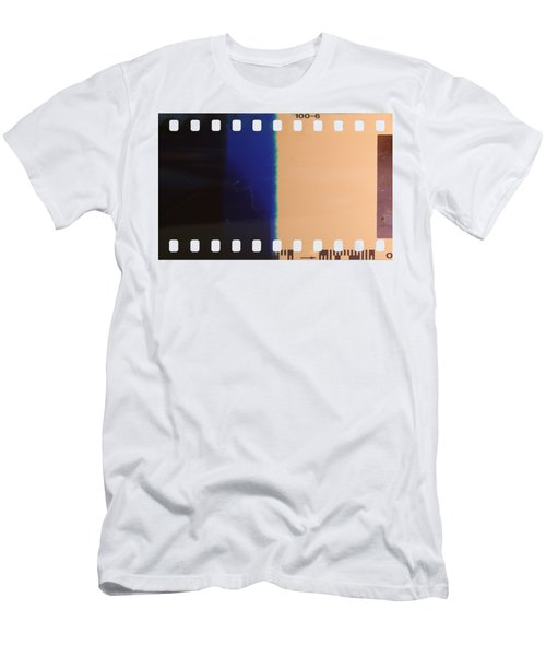 Men's T-Shirt (Slim Fit) featuring the photograph Strip Of The Poorly Exposed And Developed Celluloid Film by Michal Boubin