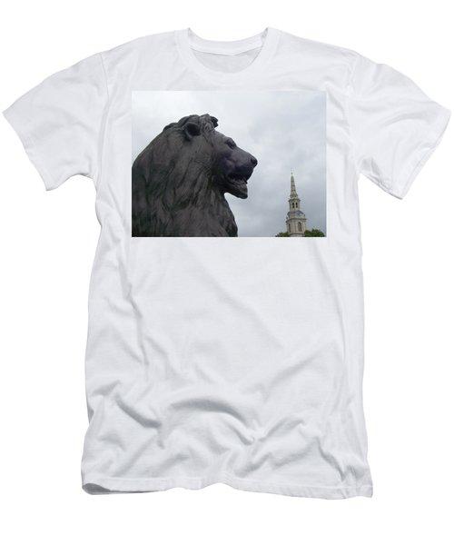 Strong Lion Men's T-Shirt (Athletic Fit)